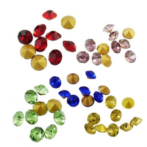 steklene perle brez luknje, kamenčki, 2x2mm, mix, 10 kos