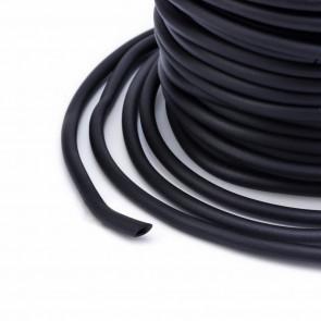kavčuk osnova (gumi) 3 mm, črne b., velikost luknje: 0.8 mm, dolžina: 1 m