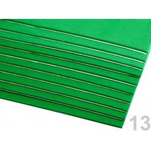 "penasta guma ""moosgumi"", samolepilna, 20x30 cm, debelina: 1,5-2 mm, zelena b., 1 kos"