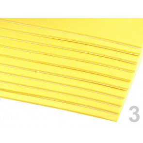 "penasta guma ""moosgumi"", samolepilna, 20x30 cm, debelina: 1,5-2 mm, rumena b., 1 kos"
