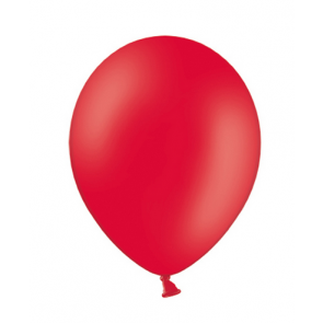 balon, rdeče b., pastel, 27 cm, 1 kos