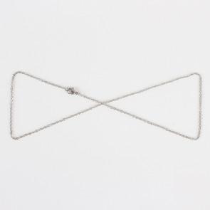 osnova za ogrlico 50 cm, nerjaveče jeklo, debelina: 1.9x1 mm, 1 kos
