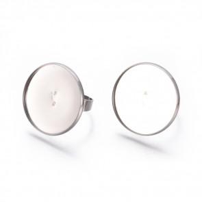 osnova za prstan za kapljico 25 mm, premer nastavljivega obročka: 17 mm, nerjaveče jeklo, 1 kos