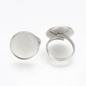 osnova za prstan za kapljico 18 mm, premer nastavljivega obročka: 18 mm, nerjaveče jeklo, 1 kos