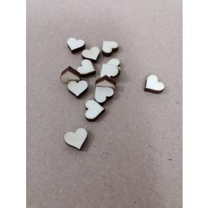 lesena kapljica - srček 10 mm, naravna, 1 kos