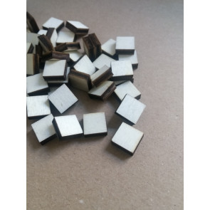 lesena kapljica - kvadrat 10x10 mm, naravna, 1 kos