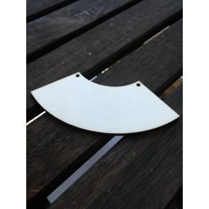 leseni obesek - U, 9.3x3.4 cm, naraven, 1 kos