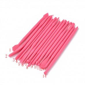 orodje za modelirno maso 108~123x3.3~9.5mm, 1 komplet (14kos)
