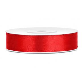 satenast trak, rdeč, širina: 12 mm, dolžina: 25 m, 1 kos