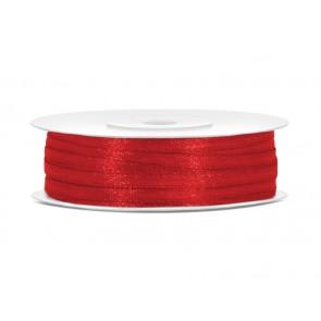 satenast trak, rdeč, širina: 3 mm, dolžina: 50 m, 1 kos