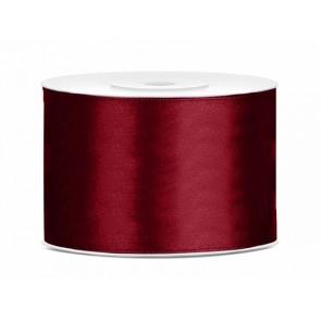 satenast trak temno rdeče b., širina: 50 mm, dolžina: 25 m