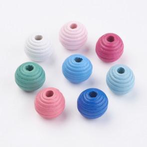 lesene perle 13~14x13 mm, mix, velikost luknje: 3-4 mm, 50 g
