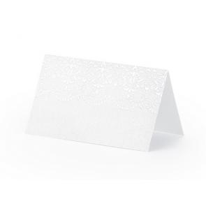 kartica za sedežni red, bela, 8x5 cm, 1 kos