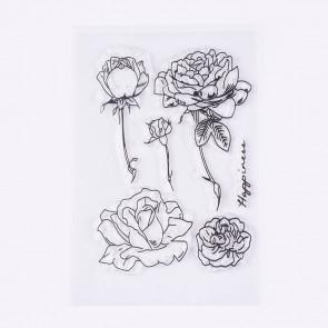 silikonske štampiljke 10~91x20~54mm, vrtnice, 1 komplet