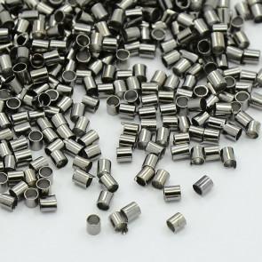 štoparji ravni, 2x2 mm, luknja 1,5 mm, črne barve, brez niklja, 10 g/cca 900 kos