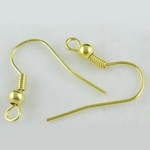 kavelj za uhan 18 mm, zlate barve, brez niklja, 50 kos