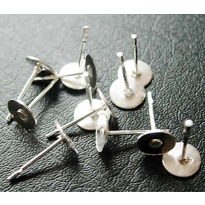 osnova za uhan 11x6x0.8 mm, srebrne b., brez niklja, 100 kos