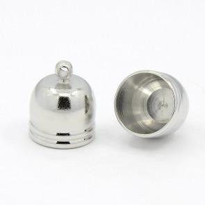 kovinski zaključek 14 x 12 mm, b. platine, notranji premer luknje: 10 mm, 1 kos