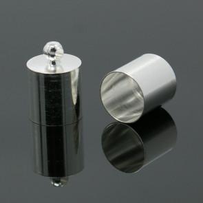 kovinski zaključek 13 x 9 mm, srebrne barve, notranji premer luknje: 8 mm, 1 kos