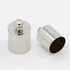 kovinski zaključek 14 x 10 mm, b. platine, notranji premer luknje: 9 mm, 1 kos