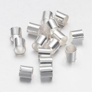 štoparji 3x3 mm, srebrne barve, brez niklja, velikost luknje: 2.5 mm, 10 g/cca 500 kos