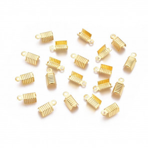 zaključni element 13x5mm, zlata barva, velikost luknje: 1 mm, 10 kos