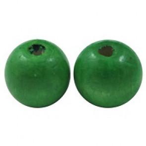 lesene perle okrogle 19~20x17.5~18mm, zelene, 20 kos