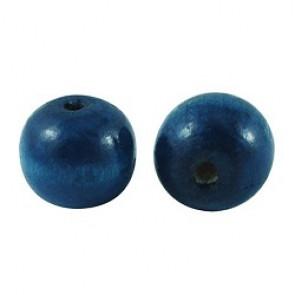 lesene perle okrogle 19~20x17.5~18mm, modre, 20 kos