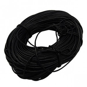 usnjena vrvica 3 mm, črna, 1 m
