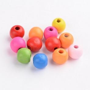 lesene perle okrogle 10x9 mm, mix, 100 kos
